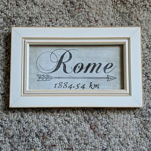 """Other - Rome 1884.54 km art print 9.5"""" x 6"""" Picture"""
